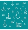 Hand drawn chemical background vector image