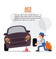 mechanic auto rapair icon graphic vector image
