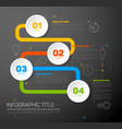 one two three four - progress template vector image