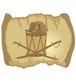 Parchment Napoleons hat drum and saber vector image