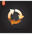 three arrows icon Eps10 vector image