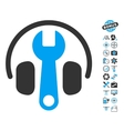 Headphones Tuning Wrench Icon With Copter Tools vector image