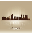 San Antonio Texas skyline city silhouette vector image