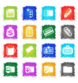 office simple icons vector image