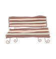 A bench stand on vector image vector image