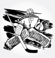 hockey player2 vector image vector image
