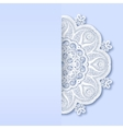 ornamental template with circle ornate background vector image