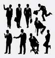 Businessman concept silhouettes vector image vector image