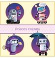 Robots friend four cartoon character vector image
