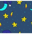 Doodle seamless night pattern background4 vector image