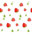 Strawberries and green leaves background vector image vector image