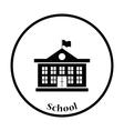 Icon of School building vector image