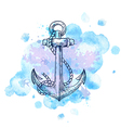 Vintage hand drawn anchor vector image vector image