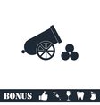 Cannon icon flat vector image