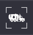 gasoline tanker icon truck with petroleum vector image