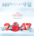 Happy new year 2017 Holiday Christmas background vector image
