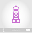 lighthouse outline icon summer vacation vector image