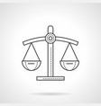 scales of justice flat line icon vector image
