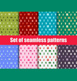 set of seamless patterns with letters merry vector image