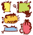 Funny cats frames for children vector image
