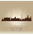 Washington District of Columbia skyline city silho vector image vector image