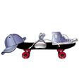 sneakers baseball cap and skateboard sports vector image