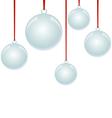 Christmas NewYear balls with ribbon hanging vector image
