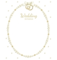 wedding jewel frame vector image