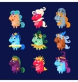 Unicorns In Disguise Set vector image