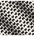 Seamless Black And White Chevron Halftone vector image