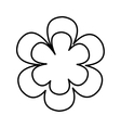beutiful flower isolated icon design vector image