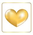 Gold heart 3D 2 vector image
