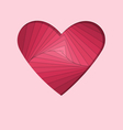 hand-made paper folding heart isolated on pink vector image