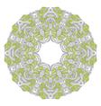 Ornamental round lace patternarabesque designs vector image