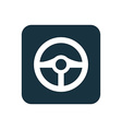 steering wheel icon Rounded squares button vector image