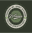winner college athletics vector image