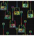 Tea bag pattern Vector Image
