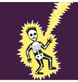 Lightning hit the man cartoon vector image