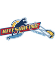 Kite surfing vector image