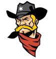 sheriff head mascot vector image