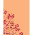 Fall buckthorn berries corner background vector image