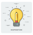 idea and inspiration thin line concept vector image