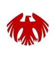 Fierce red eagle heraldic silhouette vector image