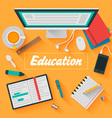 Trendy Flat Design Education vector image vector image