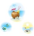 Cocktail on beach vector image