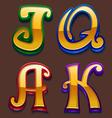 Slot symbols vector image