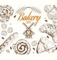 Bakery grafic white vector image