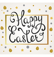 Easter background with greeting inscription vector image vector image