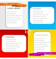 Colorful text page templates vector image vector image