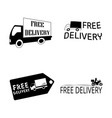 free delivery object vector image